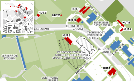 Map of Huts