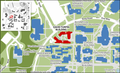 Campus map: David Turpin Building