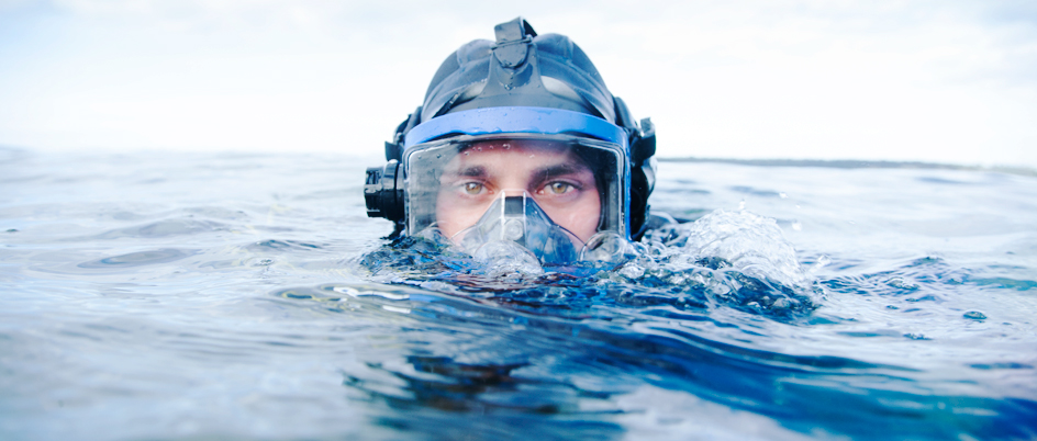 Mike Irvine in SCUBA gear