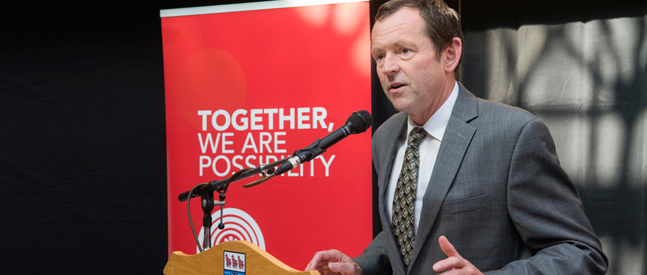 UVic President Jamie Cassels at a United Way event