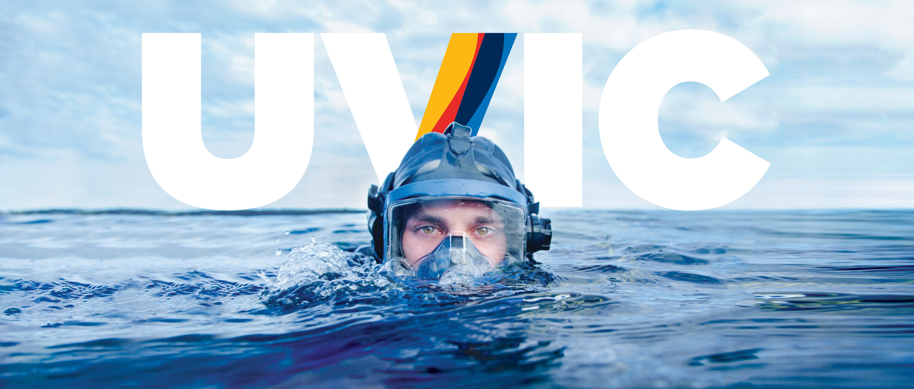 UVic graduate student Mike Irvine in SCUBA gear. Photo: UVic Photo Services.