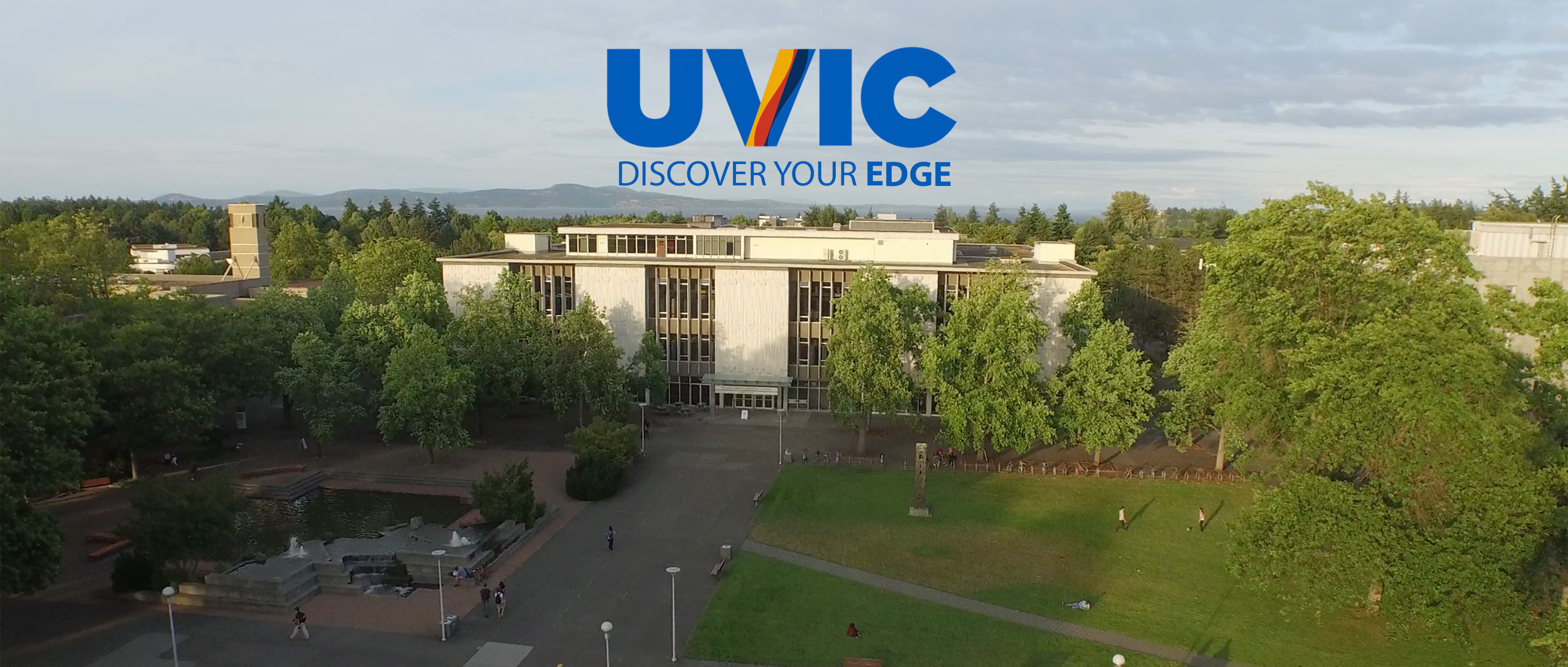 Aerial view of the UVic campus