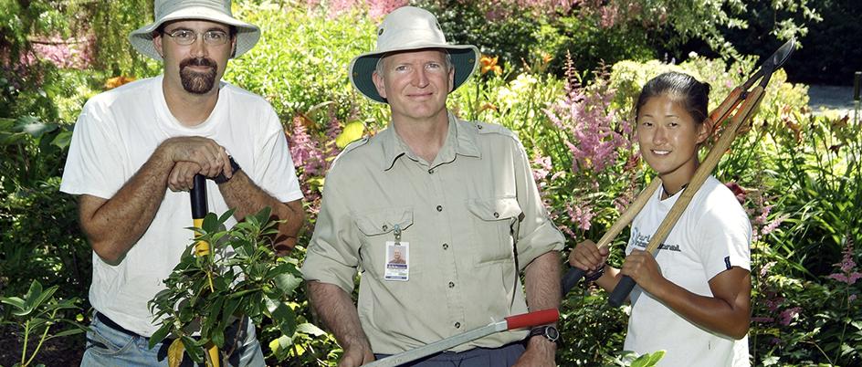 UVic garden workers