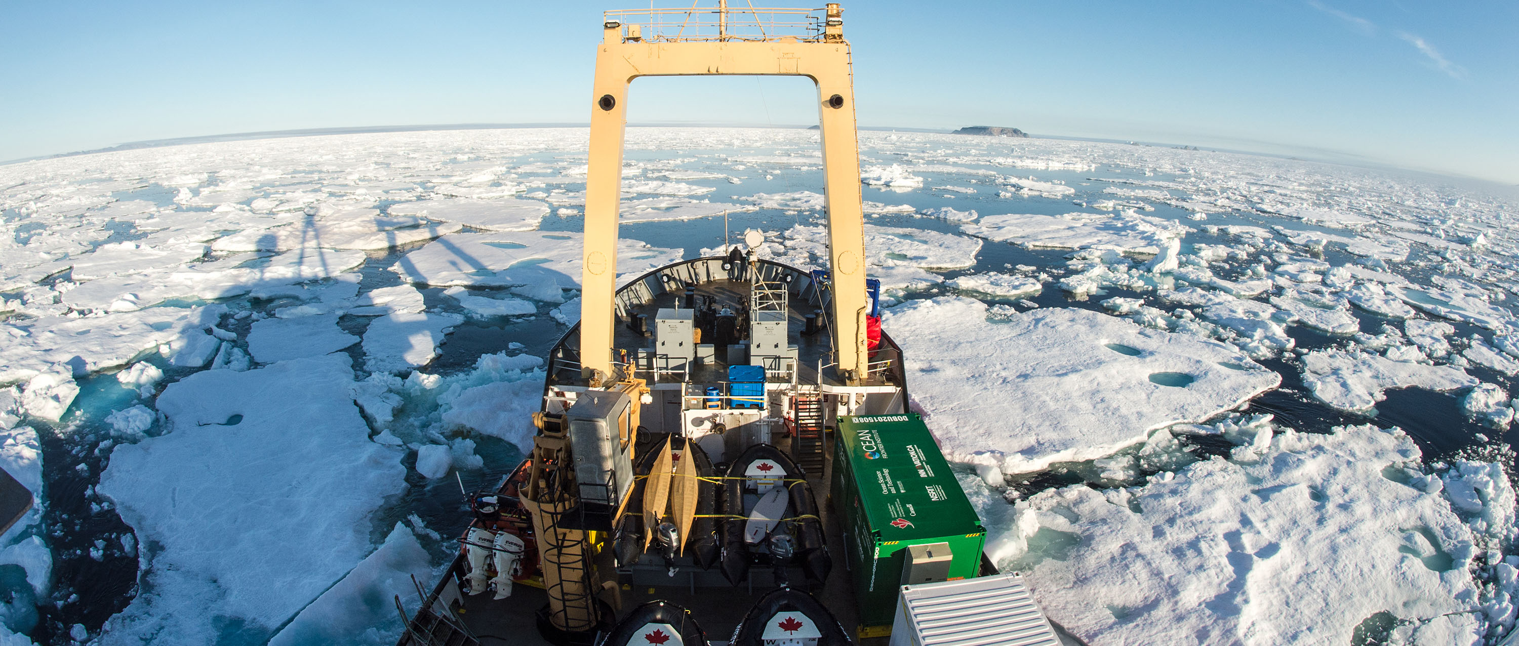 C3 ship in the Arctic. Photo credit: Mike Sudoma, Students on Ice Foundation