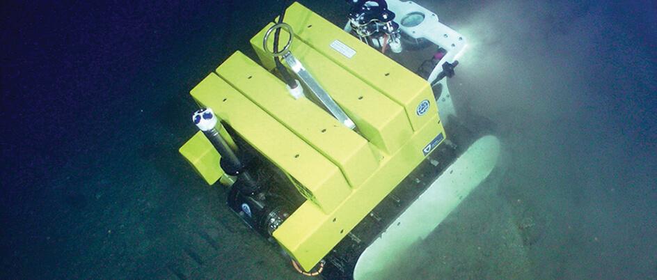 """Wally"" the deep-sea crawler in action on the ocean floor"