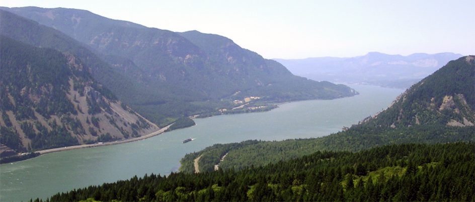 Columbia River as seen from above