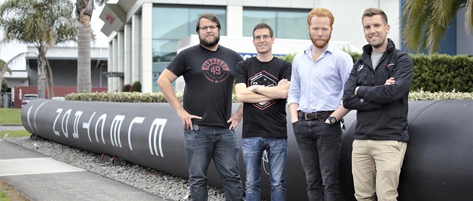 Four UVic grads at Rocket Lab