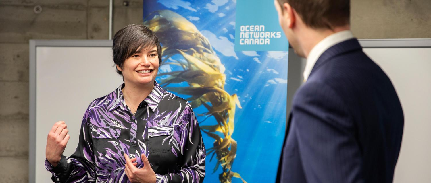 ONC's Maia Hoeberechts discussed oceans research with BC MLA Spencer Chandra Herbert