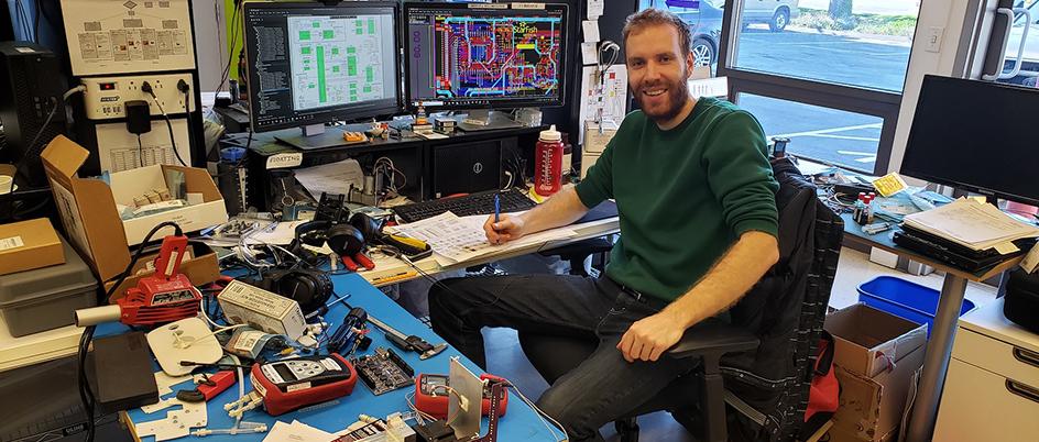 Martin Kellinghusen, Electrical Engineer and UVic alum (BEng '18)