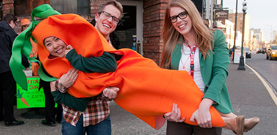 UVic commerce students organize carrot mobs, helping local businesses fund sustainability projects