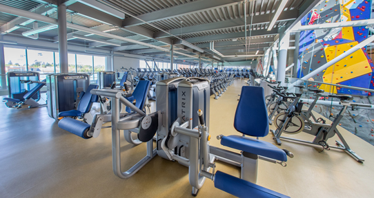One fitness area.