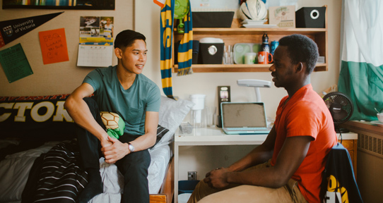 UVic guarantees a room in residence to first year students coming directly from high school.