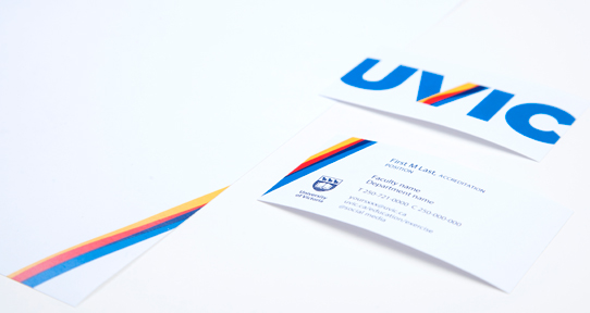 Business cards letterhead university of victoria business cards and letterhead reheart Gallery