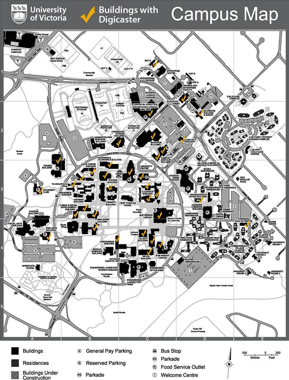 university of victoria campus map Digicaster At Uvic University Of Victoria university of victoria campus map