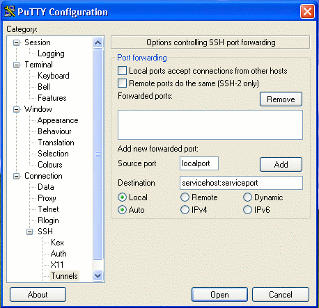 Port forwarding with ssh - University of Victoria