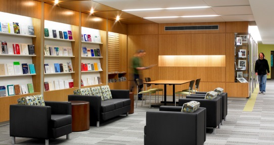 The Current Periodicals Reading Area Is Situated Near Entrance Of Library