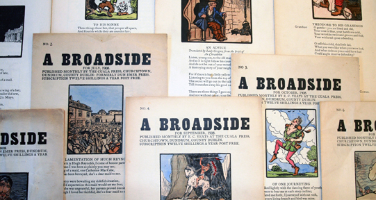 Broadsides printed by the Dun Emer Press, c. 1908.