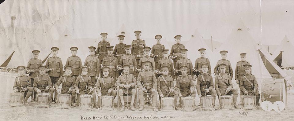 Photo: A Group Photograph Of Theodore Monk's 121st Battalion (western Irish)