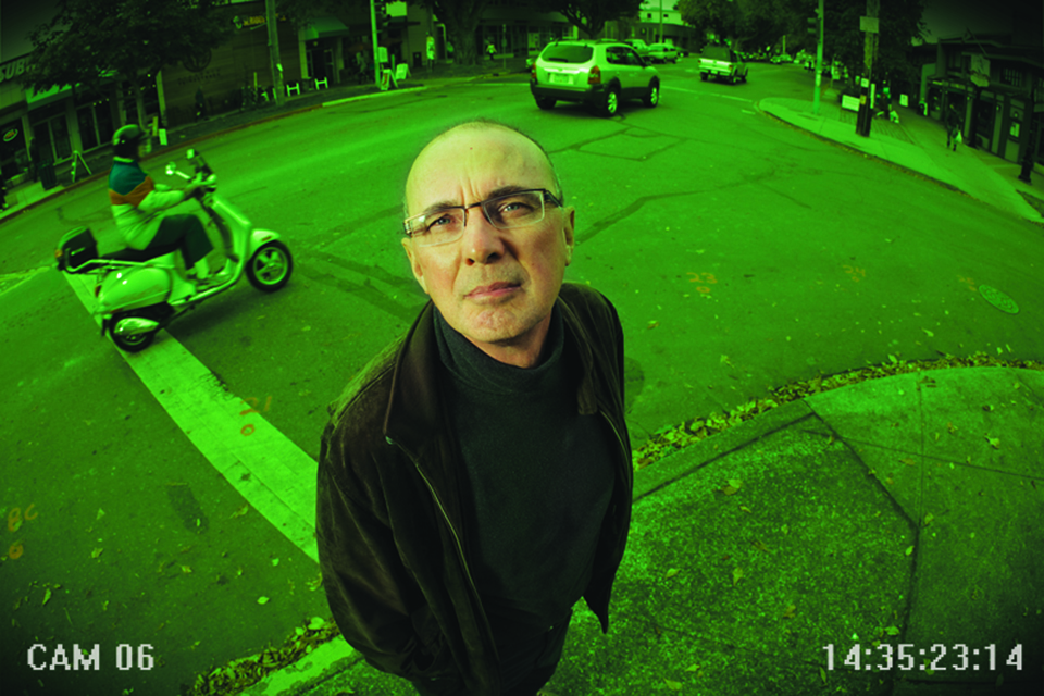 Colin Bennet through a security camera