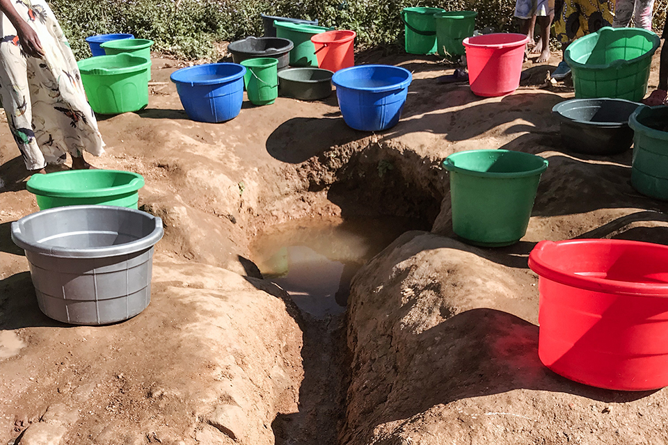 Water source in Malawi, a land-locked country in South-Eastern Africa