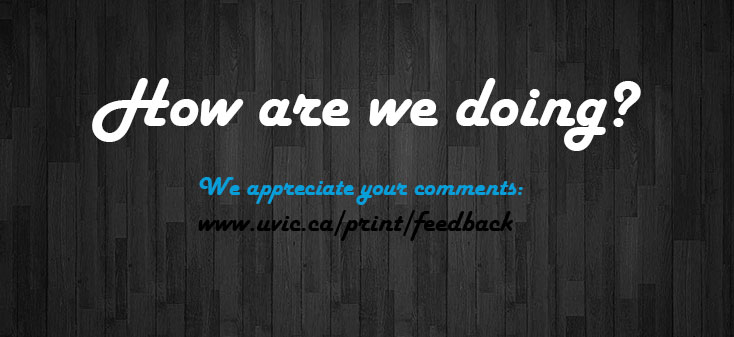 Department of Printing Services - University of Victoria