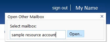 Control a resource account: Outlook Web Access - University