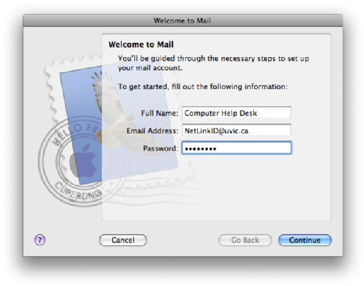 Configure Exchange: Mac Mail - University of Victoria