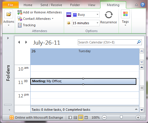 Change meeting request: Outlook 2010 and 2013 - University ...
