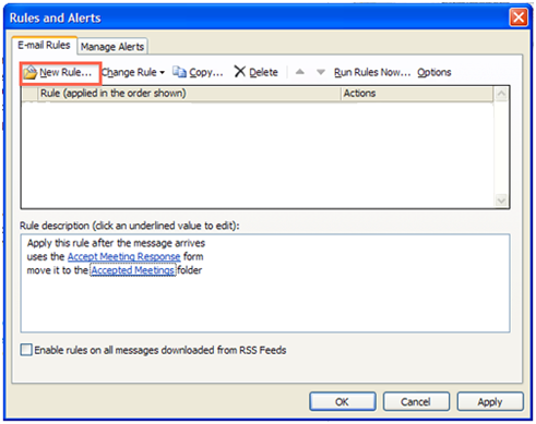 Filter invitation responses: Outlook 2010 and 2013