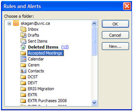 Filter invitation responses: Outlook 2010 and 2013 - University of