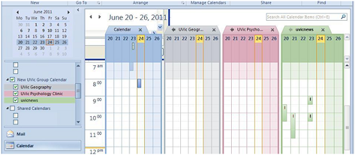 create a group schedule outlook 2010 and 2013 university of victoria