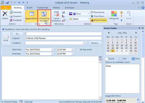 how to add bcc in outlook meeting invite