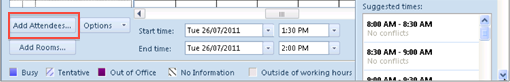 how to change outlook meeting attendees order scheduleing assistant