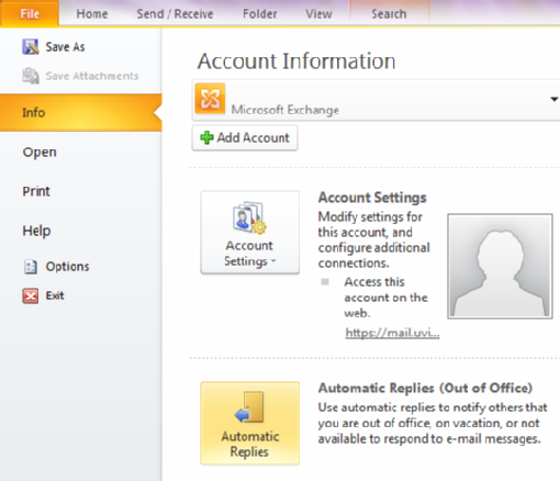 Activate out of office assistant outlook 2010 and 2013 university of victoria - Set up out of office in outlook ...