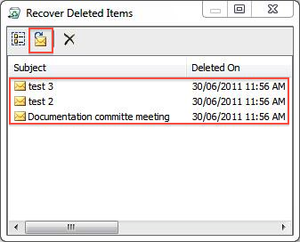 Recover deleted mail items: Outlook 2010 and 2013 - University of