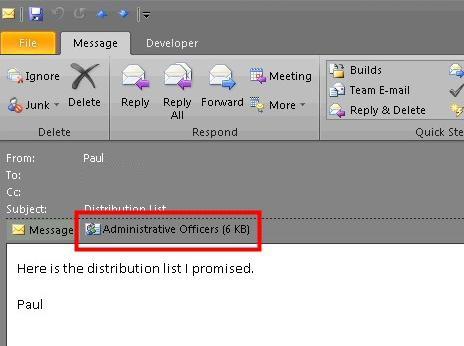 outlook how to create distribution list