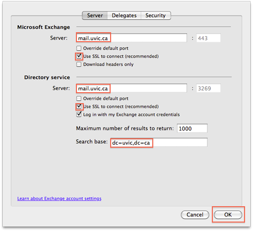 Path To Exchange Web Services For Outlook Mac 2011