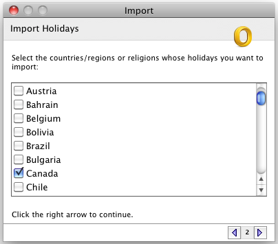 Add national holidays: Outlook 2011 for Mac - University of Victoria