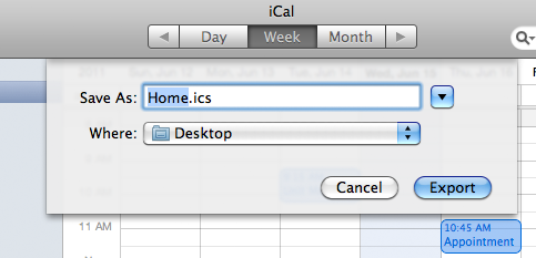 Import an iCal calendar: Outlook 2011 for Mac - University