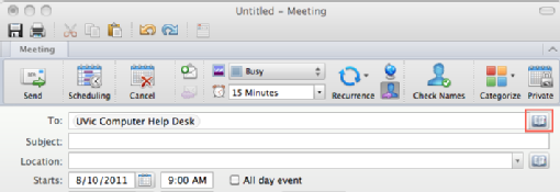 how to send meeting invite in mac mail