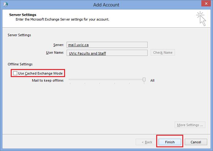 Configure Exchange: Outlook 2010 and 2013 - University of