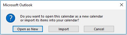 Import an iCal calendar: Outlook 2016 - University of Victoria