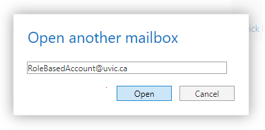 Access your role-based email: Outlook Web App - University of Victoria