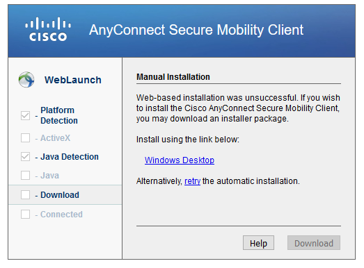 cisco anyconnect secure mobility client download windows