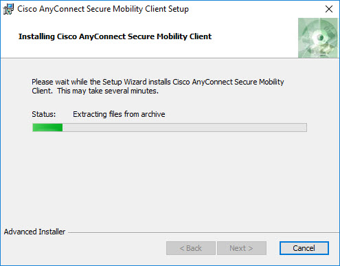 Install the VPN client: Windows (manual instructions
