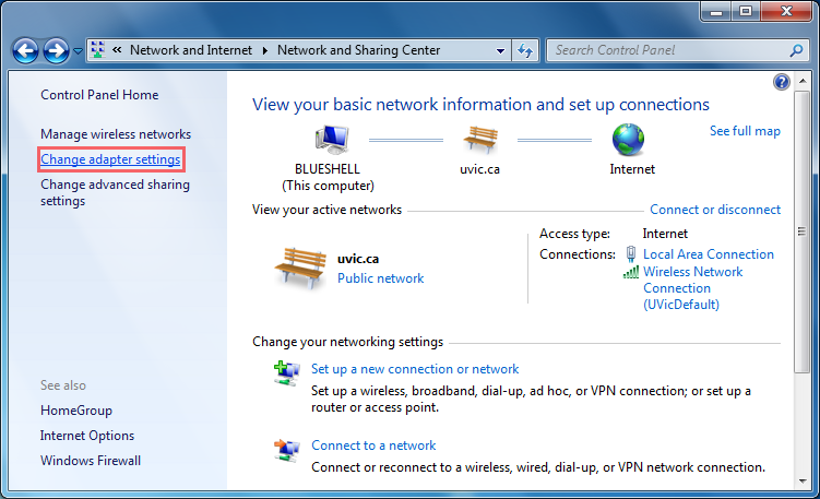 Obtain an automatic IP address: Windows 7 - University of