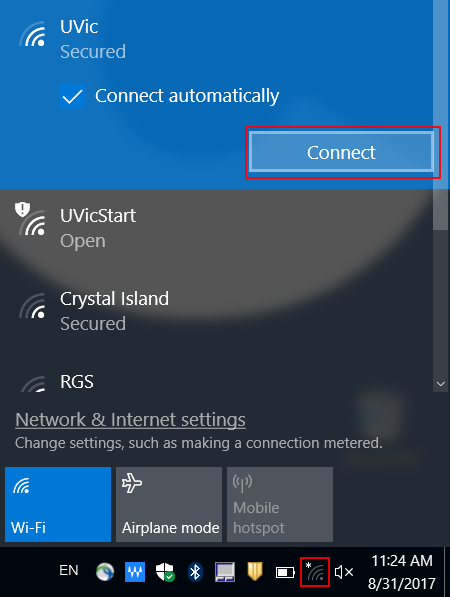 wireless connection windows 10
