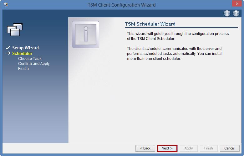 TSM Configure automatic nightly backups: Windows