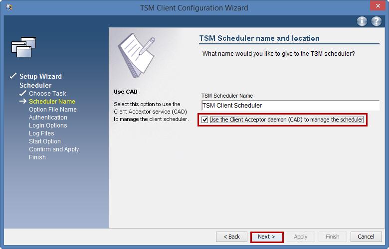 TSM Configure automatic nightly backups: Windows - University of